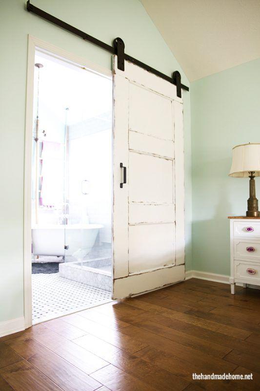 Remodelaholic   35 DIY Barn Doors + Rolling Door Hardware Ideas