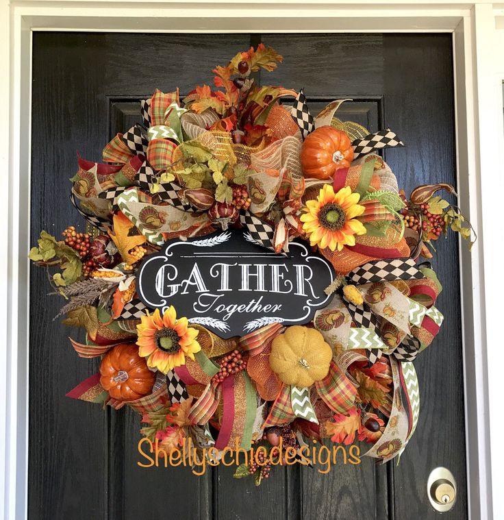A personal favorite from my Etsy shop https://www.etsy.com/listing/539502077/fall-wreathfall-deco-mesh-wreath