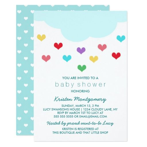 431 best heart baby shower invitations images on pinterest rain cloud hearts baby shower invitation filmwisefo Choice Image