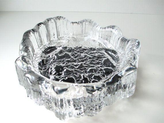 Vintage Iittala Seita Glass Art Dish Ashtray by HerVintageCrush, $39.00