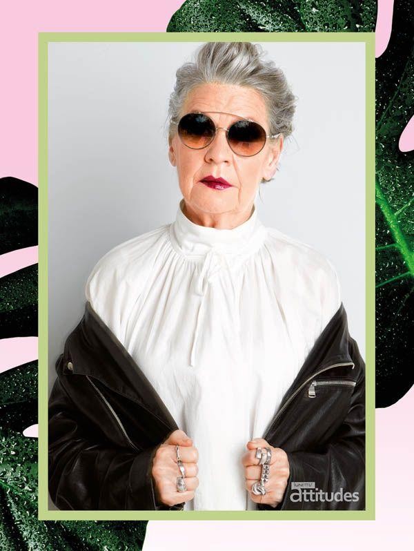 Lady with an attitude...  Lunettes Attitudes Magazine Automne-Hiver 2016-2017  par @agence100   Premier consumer magazine des Opticiens Indépendants de France !  #senior #fashion #glasses #lunettes #badass #perfecto