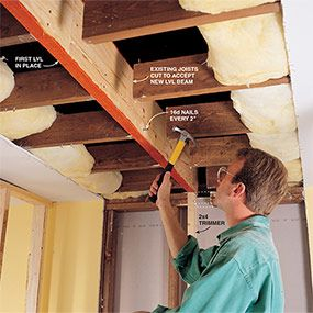 How To Install A Load Bearing Beam Load Bearing Wall And