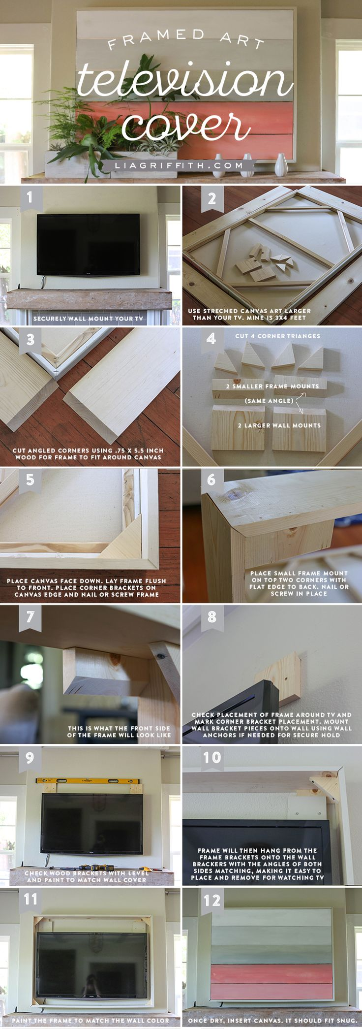 Stylish DIY TV Cover