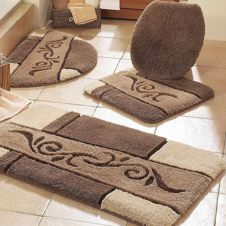 Best Large Bathroom Rugs Ideas On Pinterest Coastal Inspired - Beige bath mat for bathroom decorating ideas