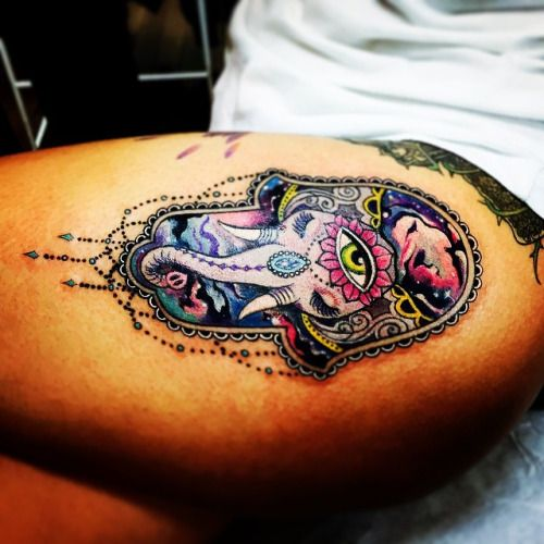 25 best ideas about hamsa tattoo design on pinterest for Hamsa elephant tattoo