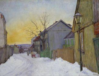 Sagene, 1911 (oil on canvas) by Harald Sohlberg (1869-1935)