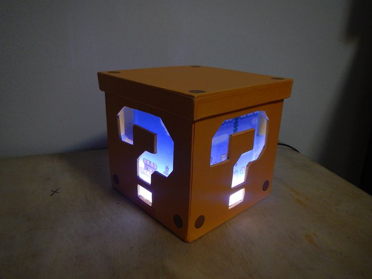 Luminária Super Mario Bros / cubo / box / abajur
