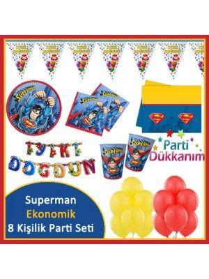 Superman 8 Kişilik Ekonomik Parti Seti