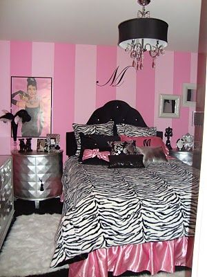 Design Dazzle: Hollywood Glamour Bedroom...Shanon look at the silver furniture! I want to paint that bedset like that!