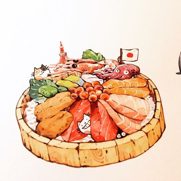 Chirashi bowl ~ illustration