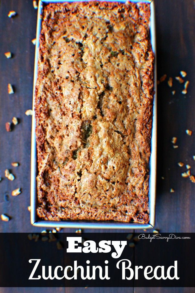 This is my family Zucchini Bread recipe - perfect and easy - make sure to pin it!