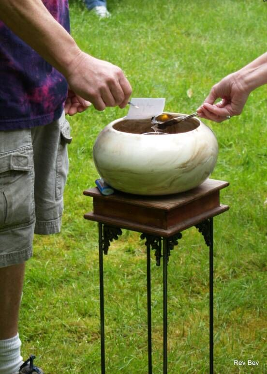 Burning Bowl unity ceremony - prior to wedding (letting go of past)? Other suggestions on link site as well.