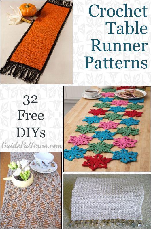 32 Crochet Table Runner Free Patterns