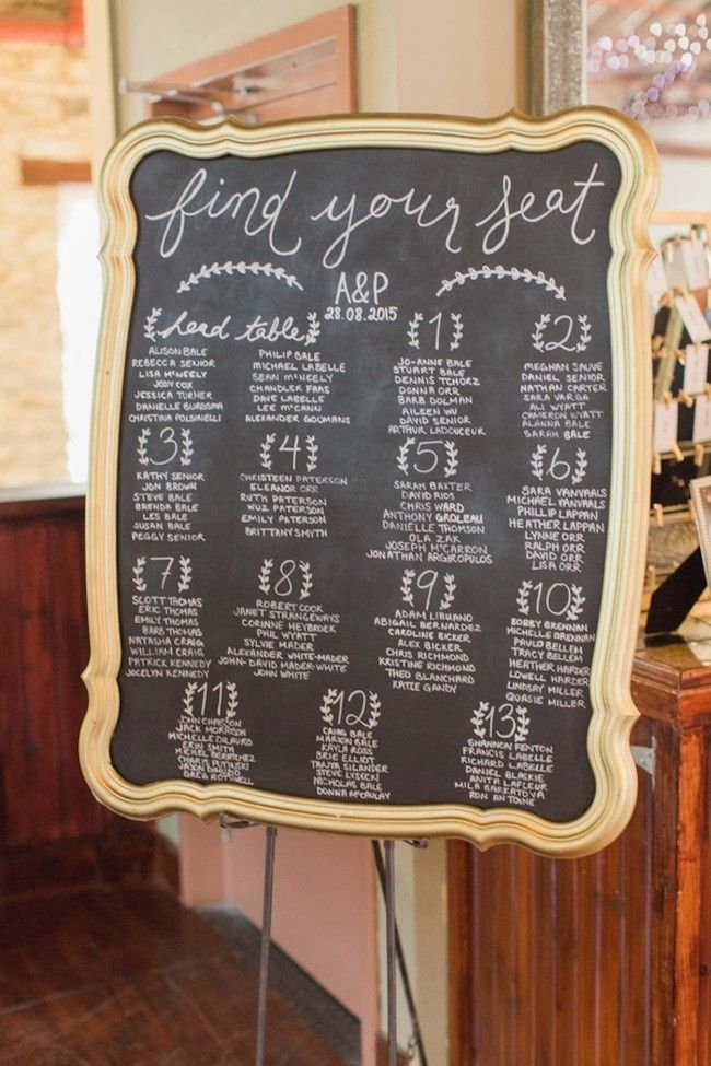 1000 Ideas About Chalkboard Seating Charts On Pinterest
