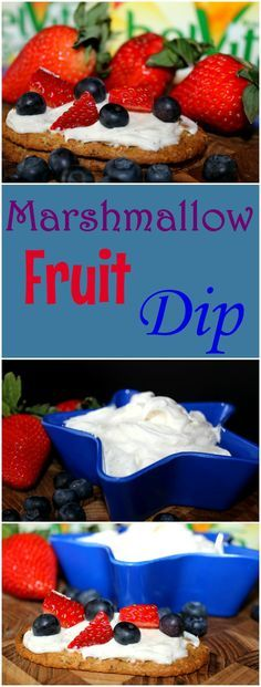 Marshmallow Fruit Dip is a delicious and easy to make recipe. It takes only 4 ingredients and can be made in less than 5 minutes.