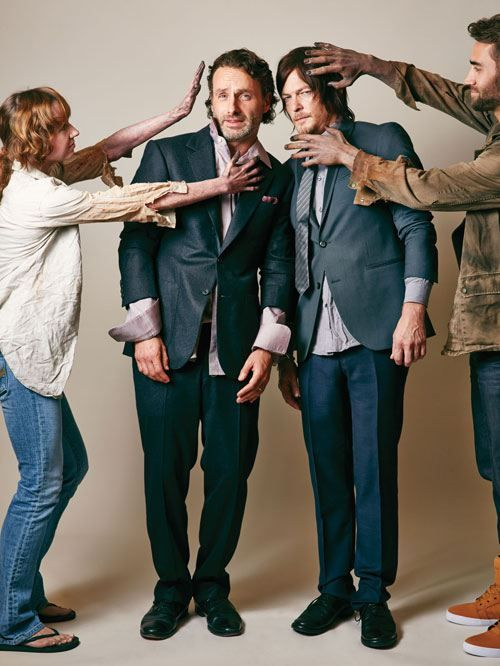 Andrew Lincoln And Norman Reedus From Atlanta Magazine S