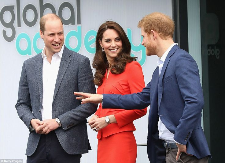 Prince William, the Duchess of Cambridge and Prince Harry have been throwing their support behind the Heads Together campaign (they are pictured at The Global Academy in support of Heads Together at The Global Academy in April)