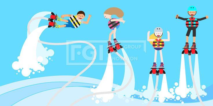 ILL156, 프리진, 일러스트, 여행, 스포츠, 여름레포츠, 레포츠, 에프지아이, 벡터, 여름, 휴가, 휴식, 힐링, 여름휴가, 사람, 캐릭터, 남자, 여자, 운동, 익스트림, 익스트림스포츠, 웃음, 미소, 행복, 신나는, 단체, 4인, 플라이보드, 구명조끼, 헬맷, 모자, 파도, 바다, 하늘, 물살, 물결, 곡선, 서있는, 전신, 물보라, illust, illustration #유토이미지 #프리진 #utoimage #freegine 20004400
