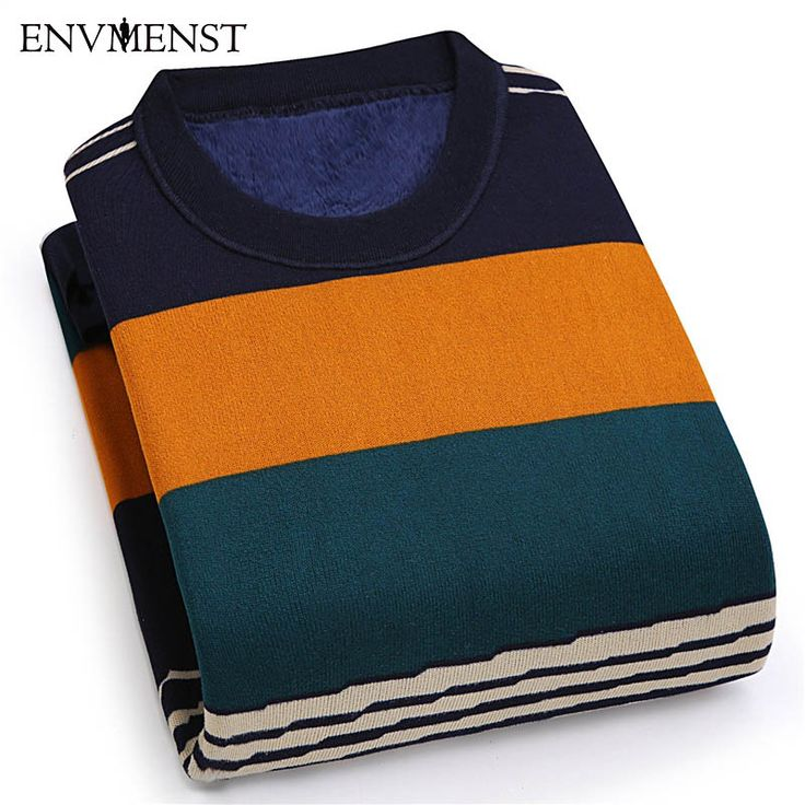 Striped Warm Hoodies Men 2017 New Plus Velvet Thick Hoodies Winter Causal Slim Fit O-neck Men Pullovers. Yesterday's price: US $19.22 (15.61 EUR). Today's price: US $17.87 (14.74 EUR). Discount: 7%.