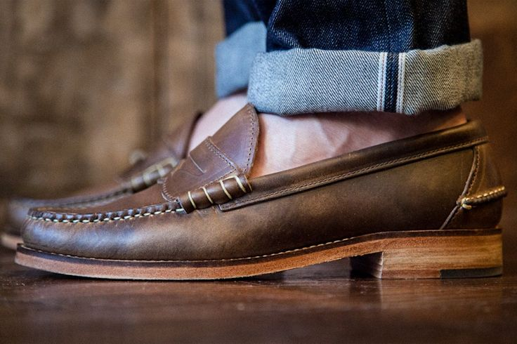 Oak Street Bootmakers Beefroll Penny Loafer Natural Chromexcel