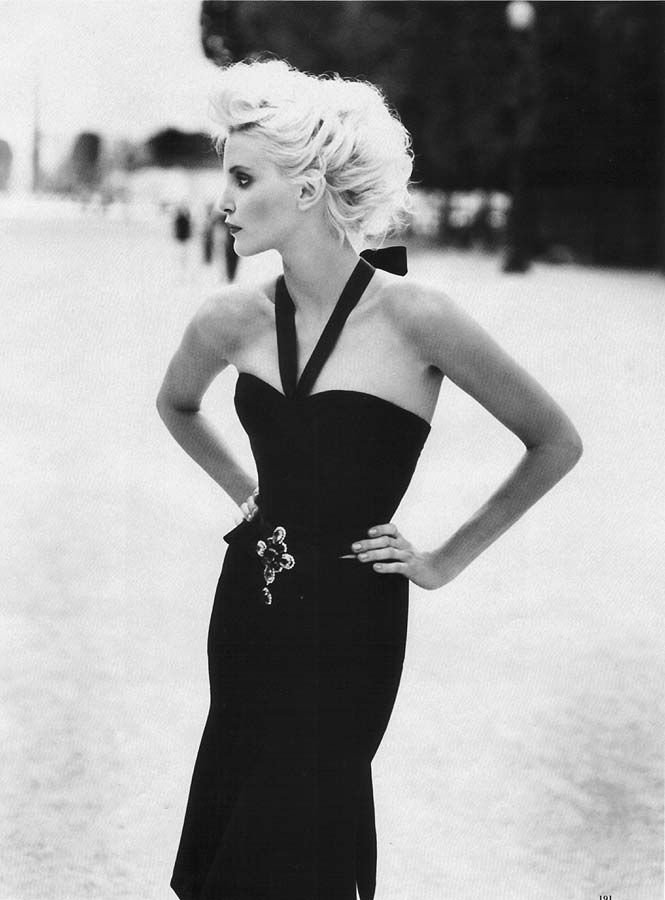 Nadja Auermann | Photography by Patrick Demarchelier | For Harper's Bazaar Magazine US | October 1994