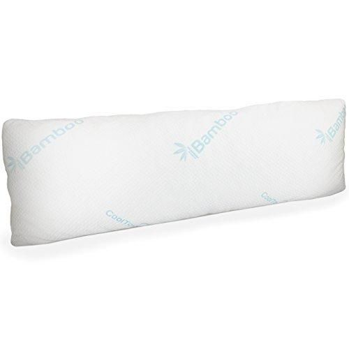 memory foam body pillow with bamboo cover large firm pillow for adults with pillowcase