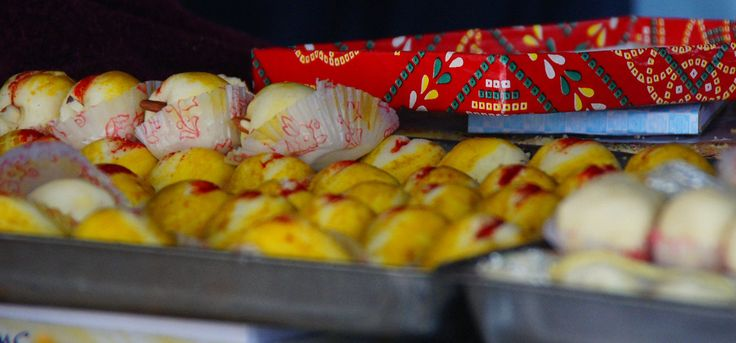 colourful indian sweets i noticed while wandering along a hectic area of jodhpur