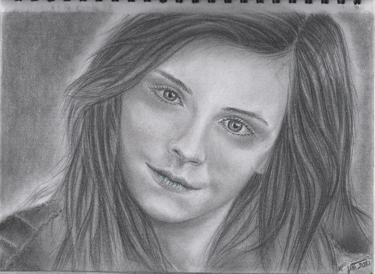 Emma Watson kreslené ceruza + gioconda A4 - 2017