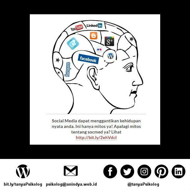 Mitos Hubungan Manusia dengan Social Media  #tanyaPsikolog #psikolog #jakarta #konseling #konsultasi #konsultasipsikologi #PsychologistJKT #Psychology #MHSM #psikologi #PsychologistJakarta #mentalhealth #thecouch #education #tanyapsikologi  Untuk membaca artikel secara lengkap bisa membuka Blog Anindya Psychological Practice http://bit.ly/2ehVdcI