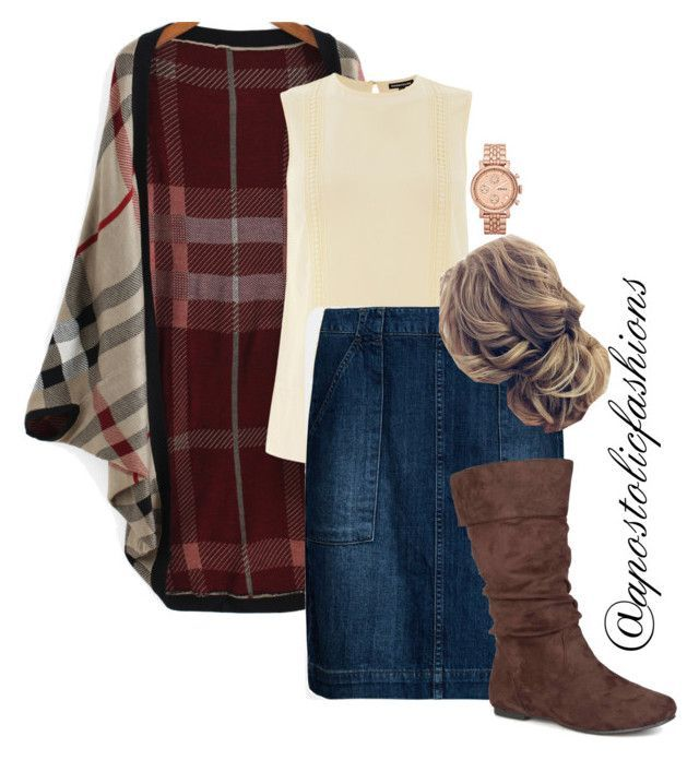 """Apostolic Fashions #1815"" by apostolicfashions on Polyvore featuring Warehouse, Seasalt, Journee Collection and FOSSIL"