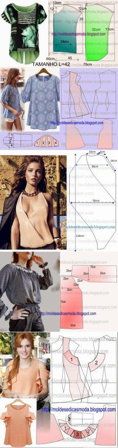 Блузки+выкройки.