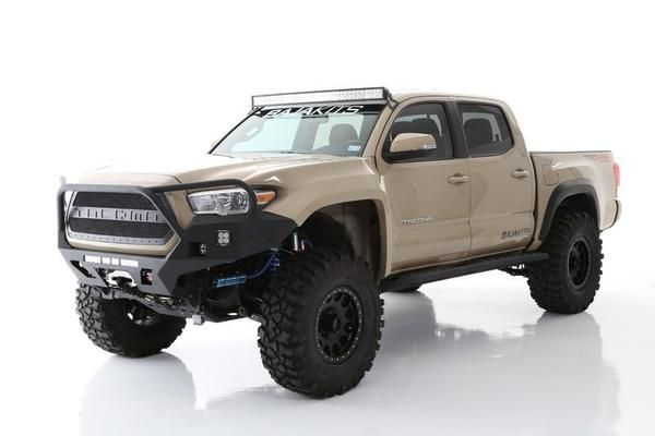 """Bolt on 6"""" of additional tire coverage per side for your 16+ Tacoma with these Off Road Fiberglass Fenders Price is for a pair"""