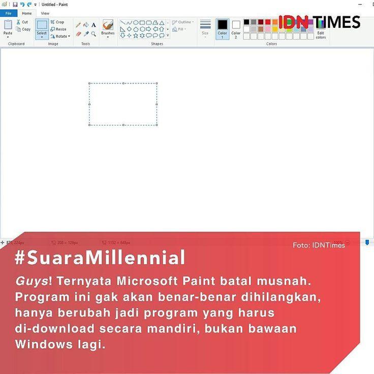 Ternyata, MS Paint Batal Musnah, guys. ----- Follow @IDNTimes - The Voice of Millennials and Gen Z ----- Kamu para generasi 90-an pasti gak asing lagi dengan program Microsoft Paint alias MS Paint. Aplikasi bawaan Windows ini adalah salah satu program grafis pertama yang pernah dipakai anak-anak 90-an untuk mengedit maupun membuat gambar digital. Pada 2017, MS Paint yang sudah berusia 32 tahun konon tak akan lagi dikembangkan oleh Microsoft. ----- Menyusul Winamp, program ini sempat…