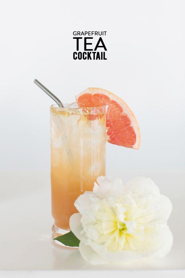 Grapefruit Tea Cocktail Read More: https://www.stylemepretty.com/living/2014/08/22/grapefruit-tea-cocktail/