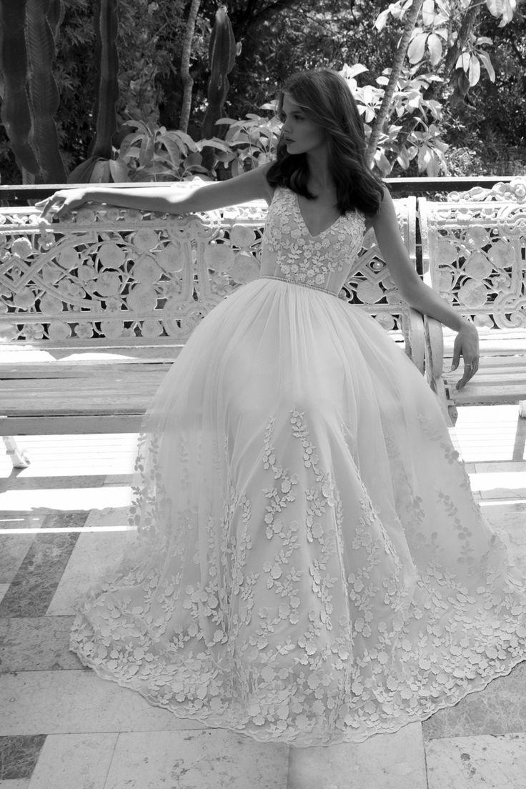 Lola wedding dress by Flora Bridal #weddingdress #floral