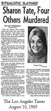 The LA Times Sharon Tate News Article - August 1969