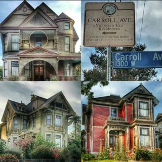 There is a street lined with Victorian-era houses in Echo Park. | 18 Things No One Tells You About L.A. https://www.laconservancy.org/