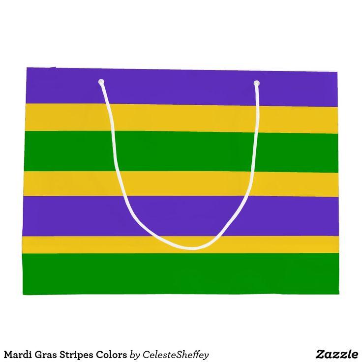 Mardi Gras Stripes Colors Gift Bag