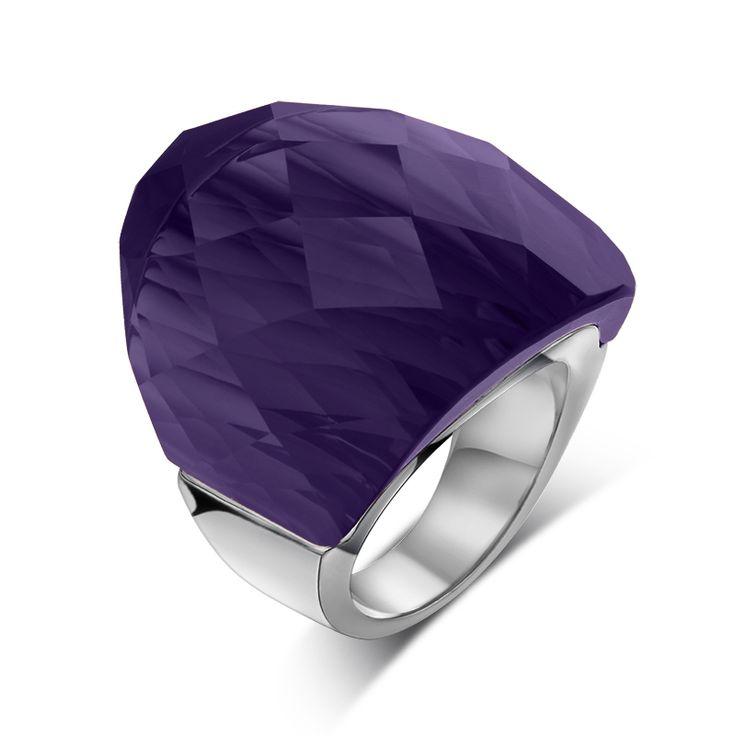 Meaeguet persoonlijkheid grote steen ringen voor vrouwen party sieraden 31mm steen rvs vrouwen trouwringen groothandel