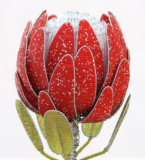 beaded protea flower