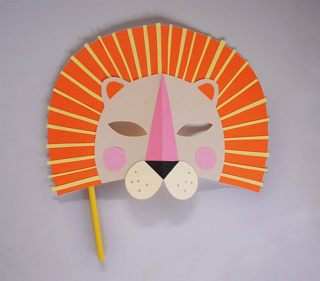 DIY paper lion mask. perfect for a kiddie masquerade party