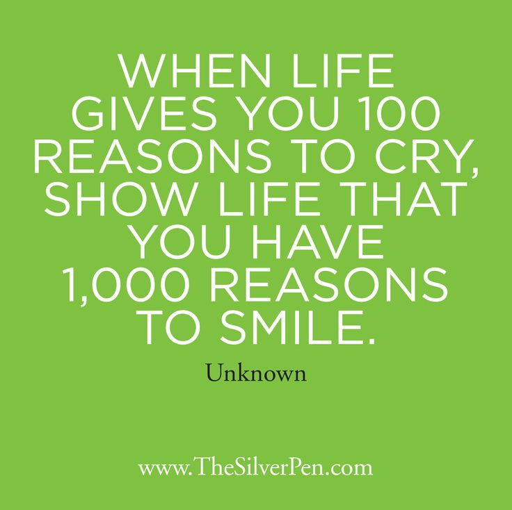 Inspirational quote: what are your 1,000 reasons to smile?