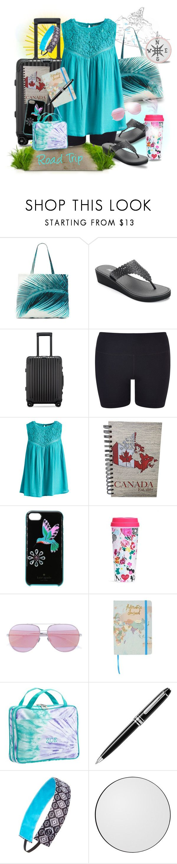 """""""Pure Comfort"""" by runners ❤ liked on Polyvore featuring Amuse Society, Apt. 9, Rimowa, Vimmia, Jennifer & Grace, Kate Spade, ban.do, Christian Dior, Montblanc and Sweaty Bands"""