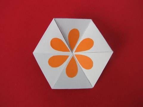 Gioco carta esagonale how to make a flexagon