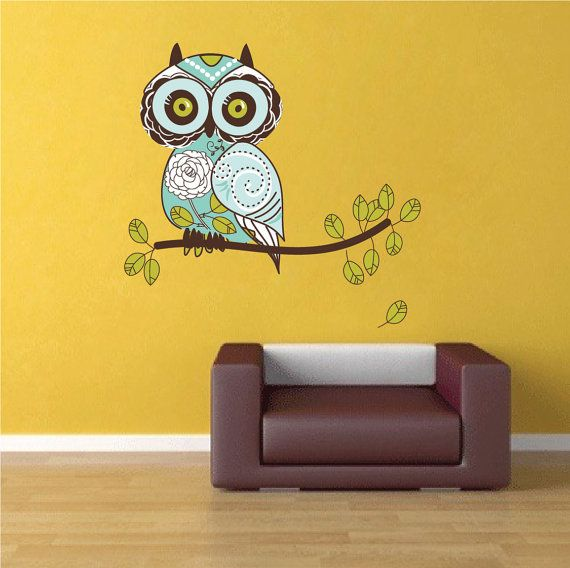 Owl Wall Decal Owl Wall Art Sticker Owl Wall Design By PrimeDecal Part 65