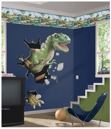 @rosenberryrooms is offering $20 OFF your purchase! Share the news and save!  T-Rex Through the Wall Peel and Stick Wall Mural #rosenberryrooms