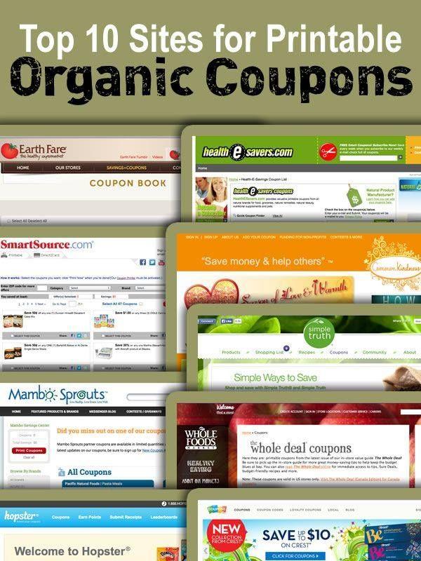 Top 10 sights for printable organic coupons.