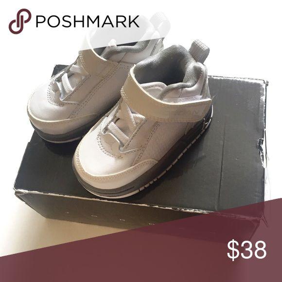 White Jordan's New unused white Jordan SS (TD) shoes, size 4C. Comes with box Jordan Shoes Baby & Walker