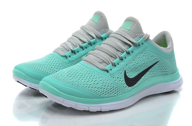 2014 Nike Running Shoes Women Free 3.0 V5 light blue gray on sale,for Cheap