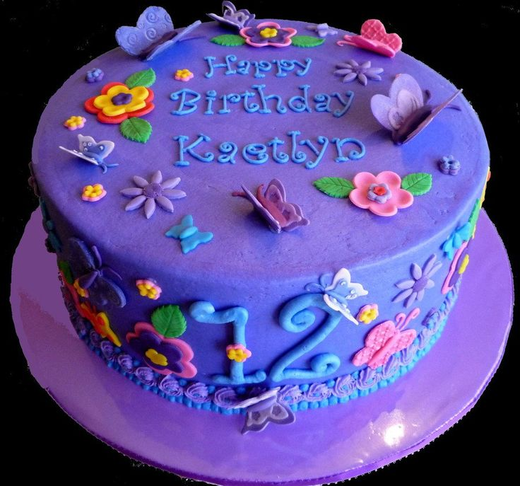 Big, Bold, Blue & Purple Butterfly Cake - CakeCentral.com